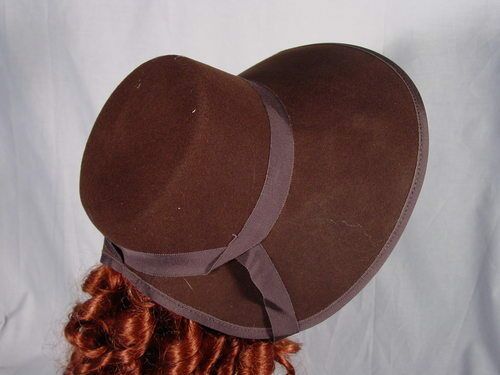 BROWN Victorian Civil War Southern Belle Dickens Christmas Carol Style Bonnet EBay
