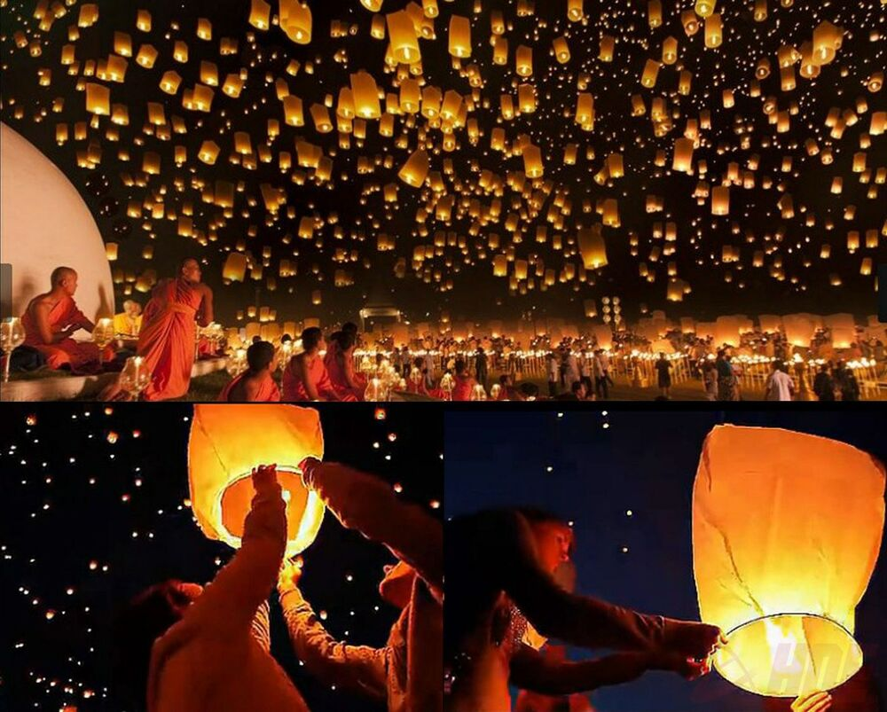50pc Wishing Lantern Chinese Paper Sky Floating Wedding Birthday Party Lamp Cool EBay