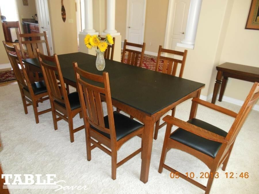 BLONDE WOOD GRAIN CUSTOM DINING TABLE PADS KITCHEN