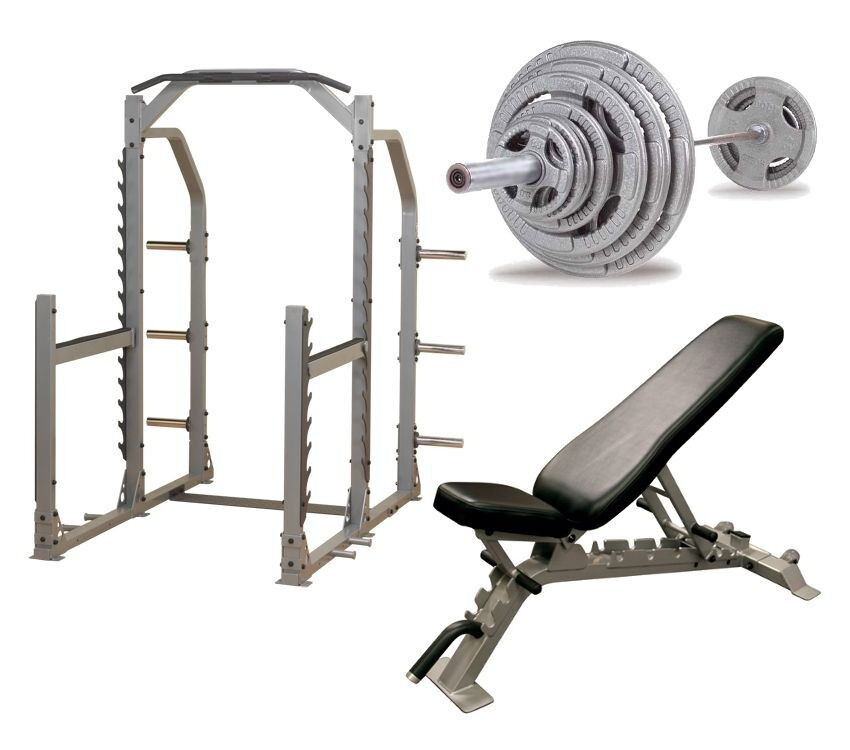 Body Solid Pro Multi Squat Rack With Fid Bench And 300 Lb