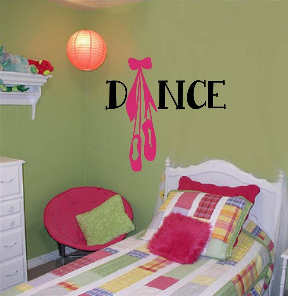 Dance Vinyl Decal Wall Decor Stickers Letters Teen Room ... on Room Decor Stickers id=87120