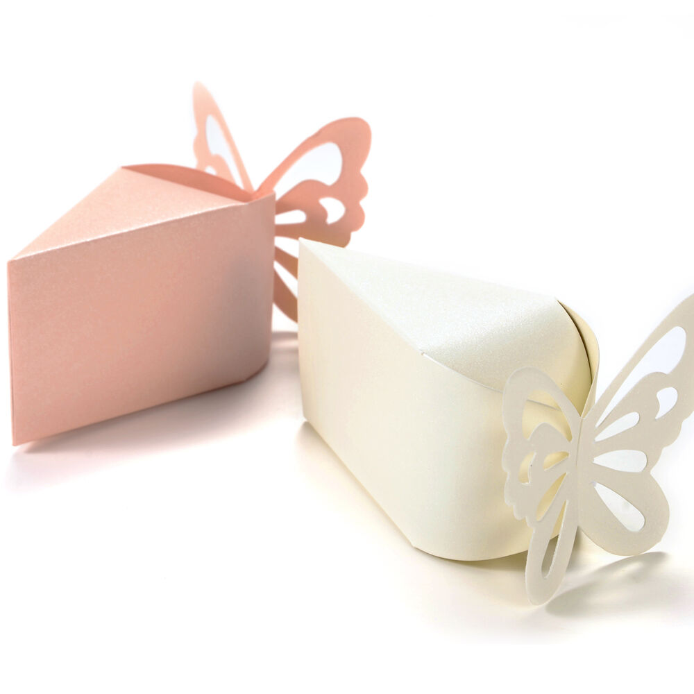 50 X Butterfly Candy Boxes Gift Favors Cake Style For
