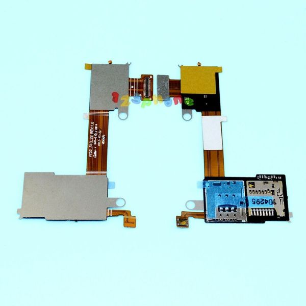 SIM + SD SLOT READER TRAY HOLDER FLEX CABLE FOR SONY ...