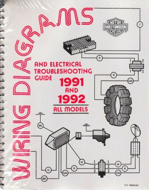 19911992 Harley Wiring Diagram Schematic Electrical Troubleshooting Manual ALL | eBay