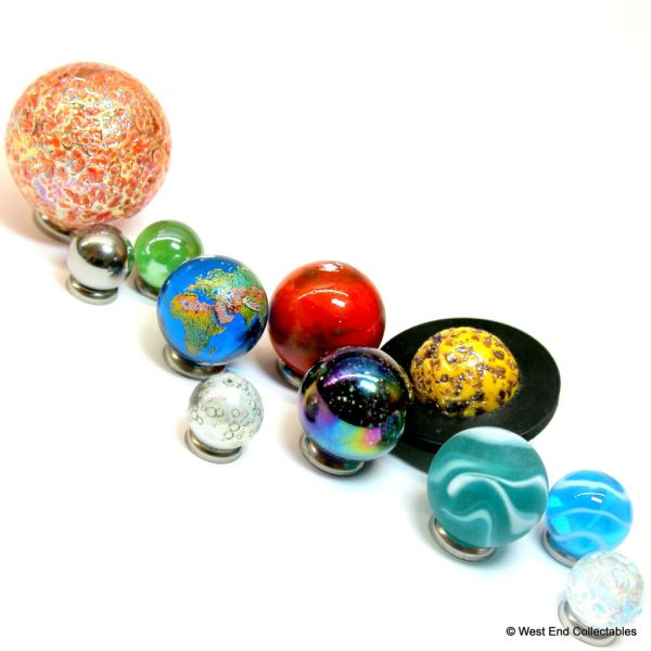 Solar System Orrery Globe Marble Collection - 11 Planets ...