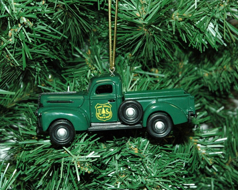 U S Forest Service 1942 Ford Pickup Truck Christmas