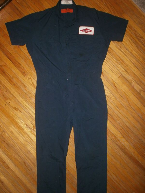 vtg DOW CHEMICAL COVERALLS Work Uniform Jumpsuit Company ...