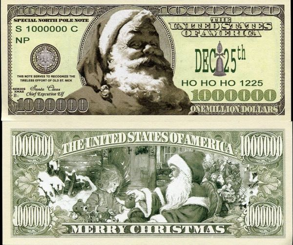 UNITED STATES MERRY CHRISTMAS FROM SANTA CLAUS 1 MILLION ...