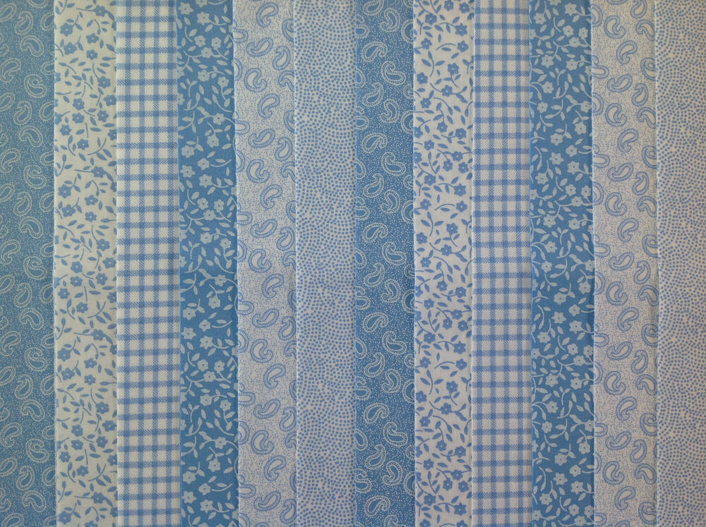 24 JELLY ROLL STRIPS 100 COTTON PATCHWORK FABRIC BLUE 22 INCH LONG EBay