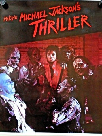 Michael Jackson  the making of Thriller  vintage poster   Exc  cond     Michael Jackson  the making of Thriller  vintage poster   Exc  cond    25 X  29    eBay