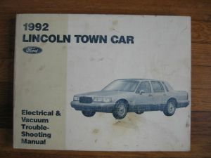 1992 Lincoln Town Car Wiring Diagram Service Electrical