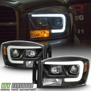 Black 20062008 Dodge Ram 1500 2500 3500 LED Tube