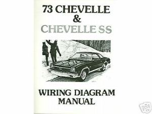 1973 73 CHEVELLESSEL CAMINO WIRING DIAGRAM MANUAL | eBay