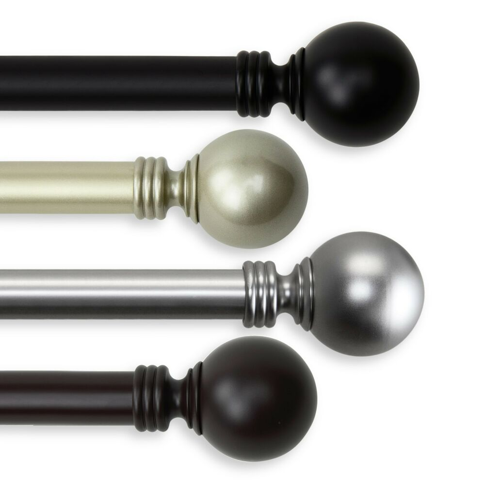 Ball Curtain Rod 1 OD 10 01 Choose From 4 Colors And 5 Sizes 28 240 Inch EBay