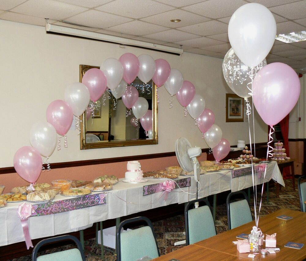 Christening Balloons Boy Or Girl Arch Amp 10 Table