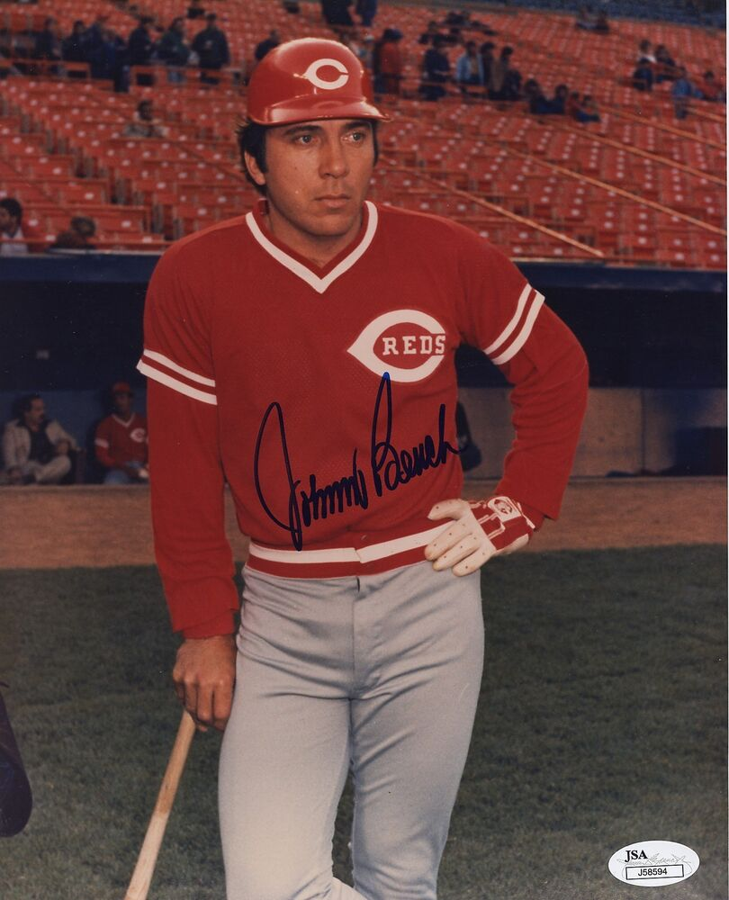Johnny Bench 8x10 Signed Autograph Auto Jsa Authenticated