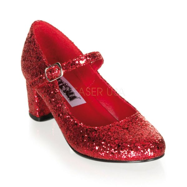 Red Glitter Ruby Slippers Dorothy Heels Drag Queen Costume ...