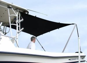 TTOP Boat SUN SHADE KIT 6'L X 5'W will stretch to 8'L x 7