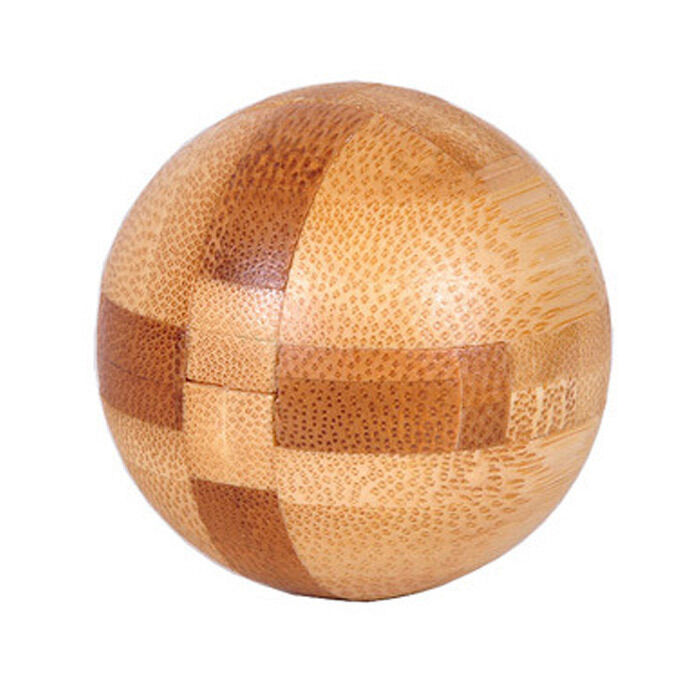 Magic Ball Sphere Bamboo 3d Wooden Construction Puzzle