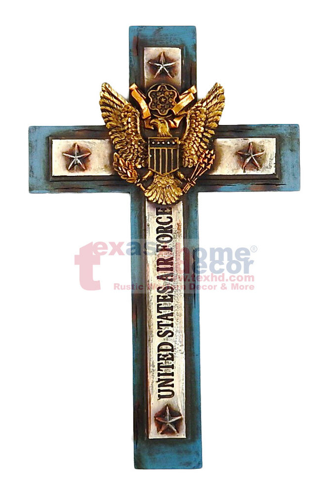 United States Air Force Decorative Wall Cross Eagle Shield Religious Military EBay