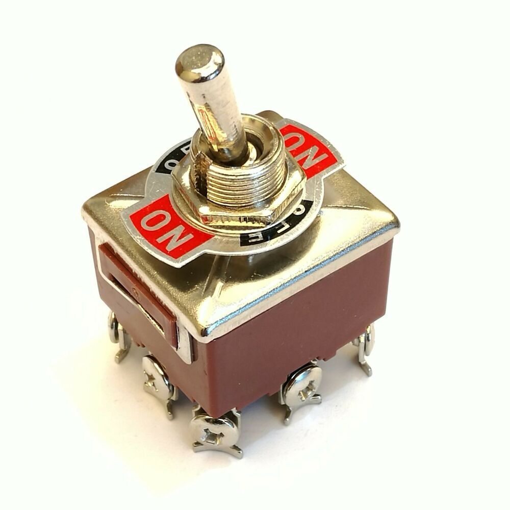 New 3pdt 3 Position 9 Screw Pin Terminals Toggle Switch