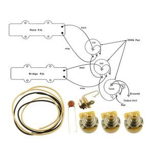 WIRING KITFENDER® JAZZ BASS Complete with Schematic