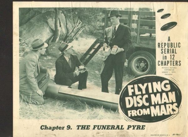 1950 MOVIE LOBBY CARD #4-1714 - FLYING DISC MAN FROM MARS ...