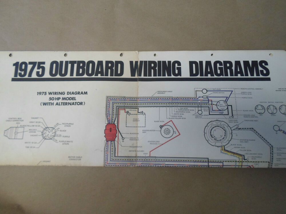 1975 Force Outboards Wiring Diagrams 50 70 75 85 115 135