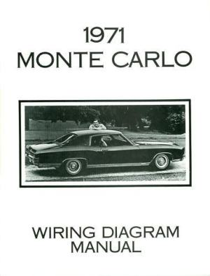 1971 CHEVROLET MONTE CARLO WIRING DIAGRAM MANUAL | eBay