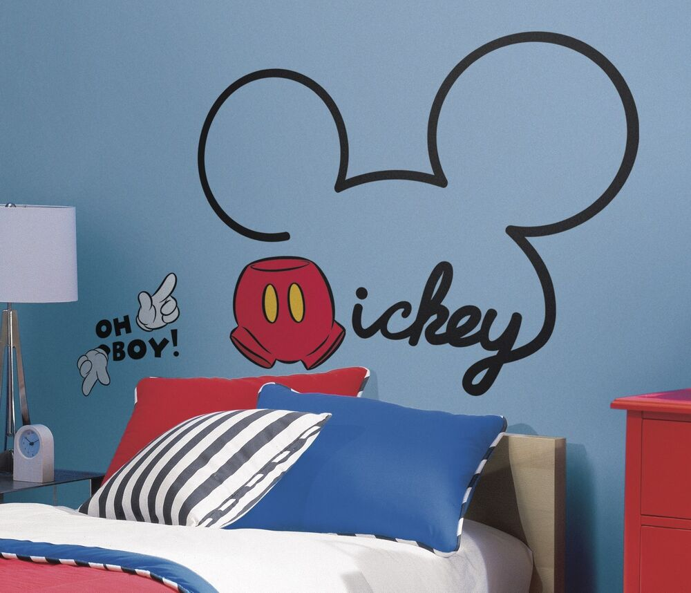 ALL ABOUT MICKEY MOUSE GiaNT WALL DECALS NeW Disney Room ... on Room Decor Stickers id=52255