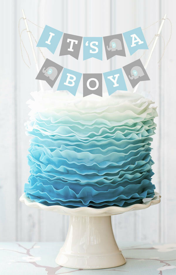 Personalized Baby Shower Cake Bunting Banner Baby Shower