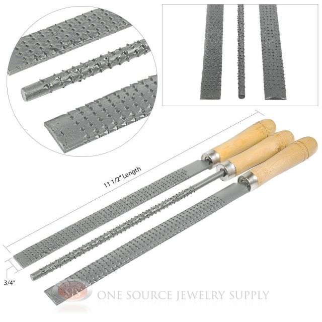 Rasp Files Wooden Handle 3 Piece Set Course Cut Woodworking Tools ...