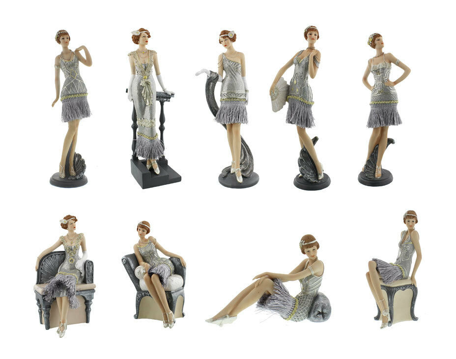 NEW Charleston Gatsby Girls Lady Figurines Ornament Gift