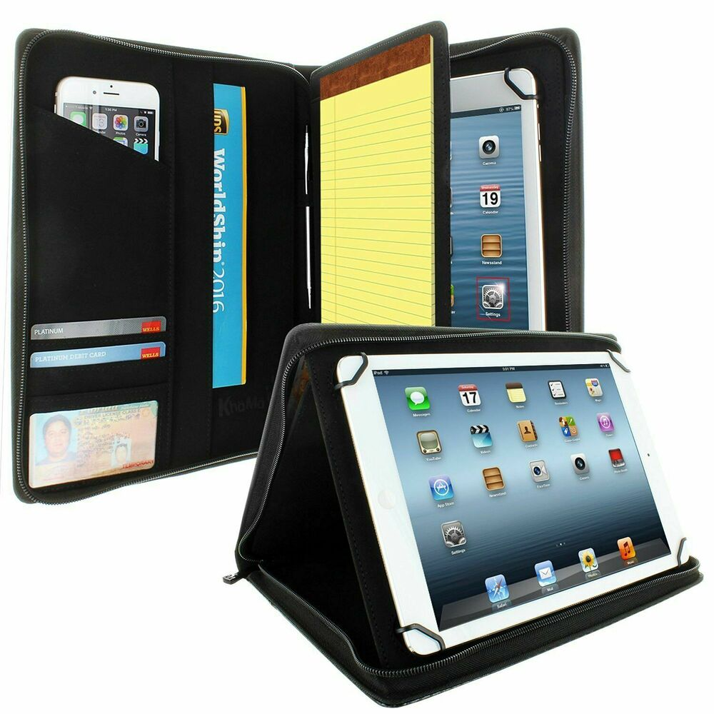Universal Tablet Padfolio Case Khomo For 85 To 11 Tablets Carbon Fiber EBay