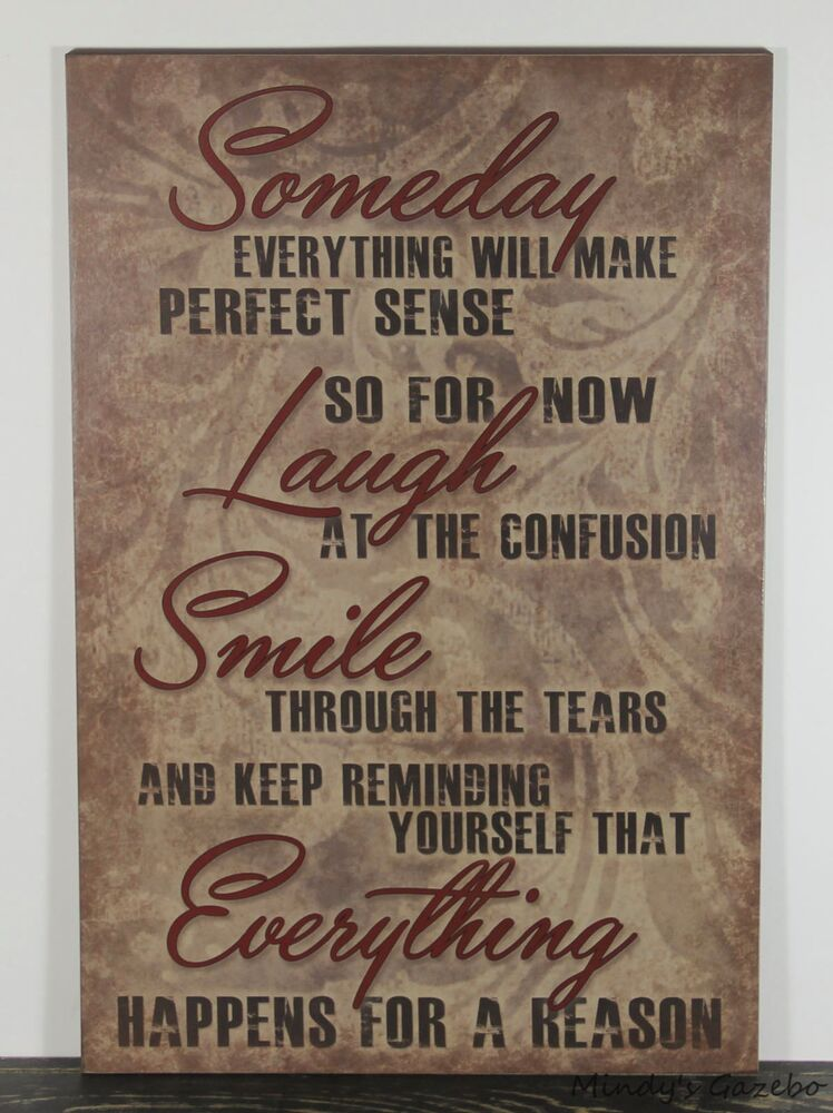 PRIMITIVE RUSTIC COUNTRY WOOD INSPIRATIONAL SIGN HANDMADE ... on Home Wall Decor Signs id=46511