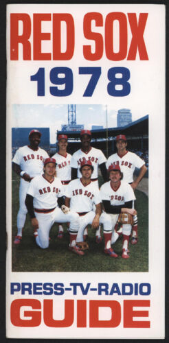 1978 Boston RED SOX  Media Guide