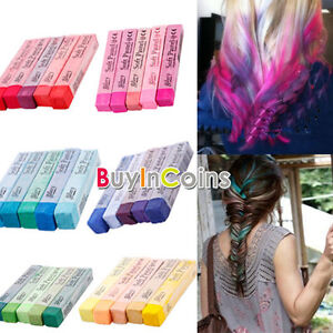 5 color pink purple red green blue non toxic temporary hair dye chalk hkus ebay
