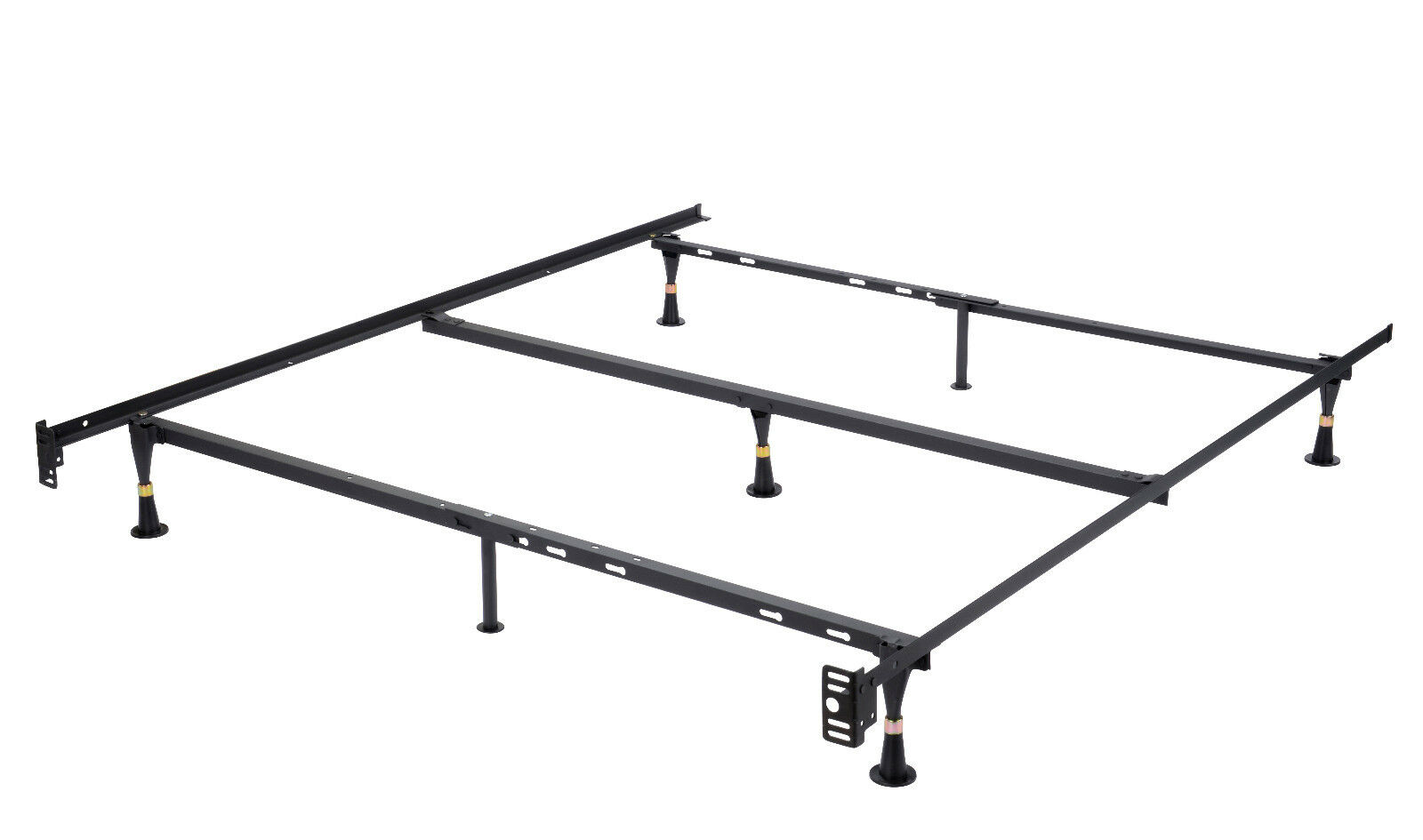 7-Leg Heavy Duty Metal Queen Size Bed Frame With Center