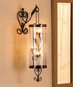 Elegant Hanging Tealight Candle Holder Sconce Scroll Metal ... on Decorative Wall Sconces Candle Holders Chrome id=31922
