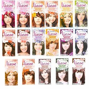 Kao Liese Bubble Hair Color Evenly Coloured Brown Black