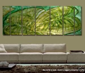 Modern Feng Shui Abstract Metal Wall Art Green Decor ... on Modern Feng Shui Garden  id=45040