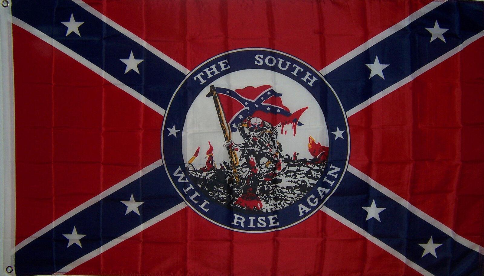 Bullet Rebel Flag Border