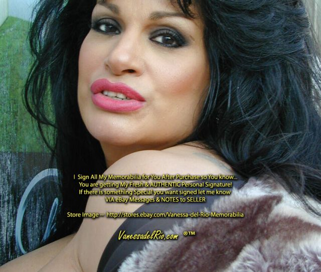 Vanessa Del Rio Adult Star Photo Sexy 2001 Very Rare Signed With Coa After Purchase For Personal Authenticity Over 49 And Shipping Is Free
