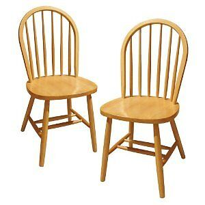 Wooden Chairs Sturdy Back Solid Beech Wood Seats Dining Kitchen House