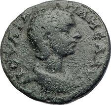 JULIA MAMAEA Severus Alexander Wife 222AD  Ancient Roman Coin VICTORY i73499