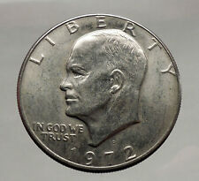 1972 President Eisenhower Apollo 11 Moon Landing Dollar USA Coin Denver  i46171