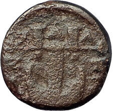 OLYNTHOS MACEDONIA 420BC Chalkidian League Ancient Greek Coin APOLLO LYRE i61569