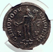 Galerius as Caesar Authentic Ancient 300AD Antioch Genuine Roman Coin NGC i77470