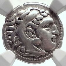 ALEXANDER III the Great 306BC Authentic Ancient Silver Greek Coin NGC i72077