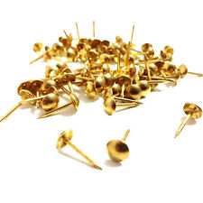 Item 3 Brass Upholstery Nail Pin 6 5mm Wide Head 16mm Length Stud Tacks Pins